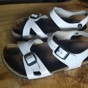 Birkenstock White Rio Sandal Size 34 220